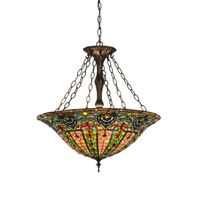 Greenbriar Oak 4-Light Inverted Pendant