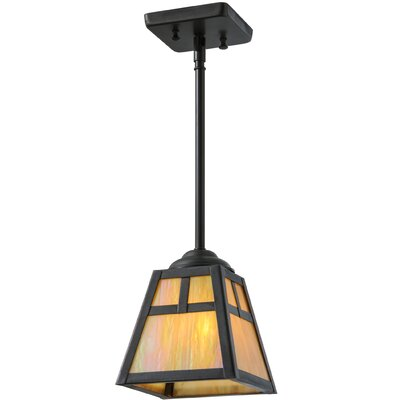 T Mission 1-Light Mini Pendant Size: 19 H x 8.5 W x 8.5 D