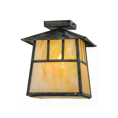 Greenbriar Oak Stillwater Double Bar Mission 1-Light Flush Mount