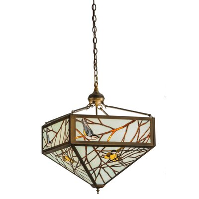 Greenbriar Oak Backyard Friends 4-Light Inverted Pendant