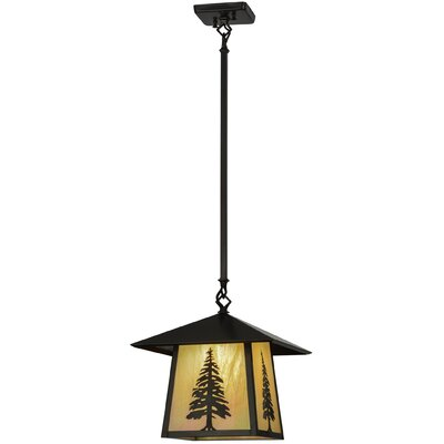 Greenbriar Oak Stillwater Tall Pine 1-Light Mini Pendant