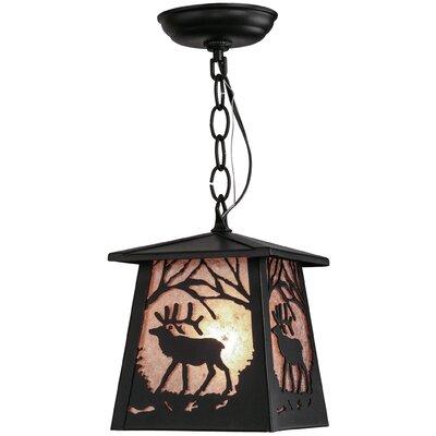 Greenbriar Oak Elk at Dawn 1-Light Mini Pendant