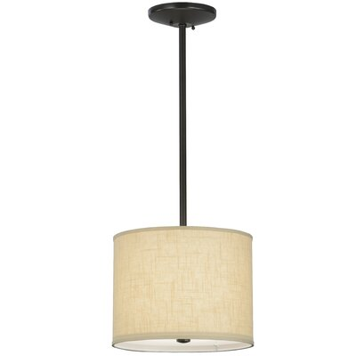 Greenbriar Oak Cilindro Beige Textrene 1-Light Pendant Size: 122 H x 14 W x 14 D