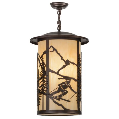 Greenbriar Oak 3-Light Pendant