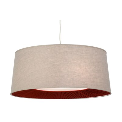 Greenbriar Oak 5-Light Drum Pendant Size: 257 H x 36 W x 36 D
