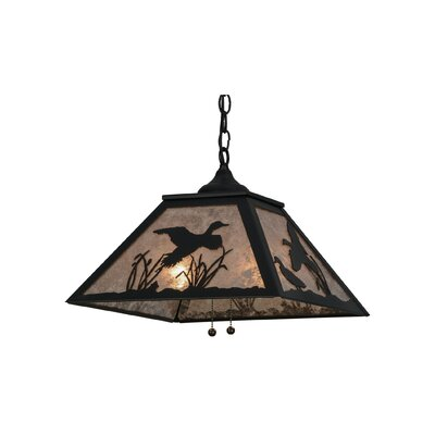 Greenbriar 2-Light Mini Pendant Shade Color: Black/Silver Mica