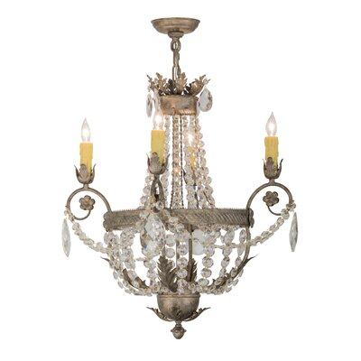 Antonia 4-Light Crystal Chandelier