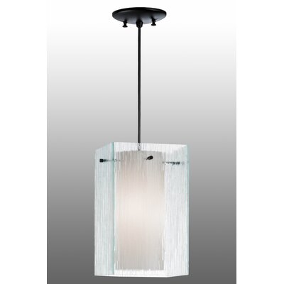 Greenbriar Oak Quadrato Mist 1-Light Mini Pendant
