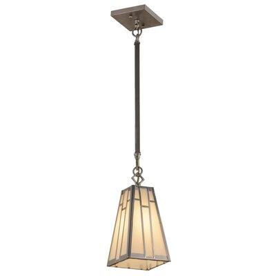 Greenbriar Oak Double Bar Mission 1-Light Mini Pendant