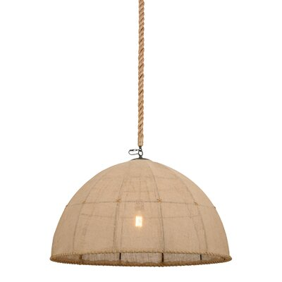 Greenbriar Oak 1-Light Bowl Pendant