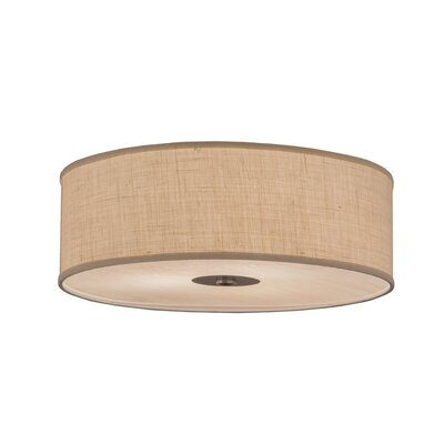 Greenbriar Oak 3-Light Flush Mount Size: 9 H x 24 W x 24 D