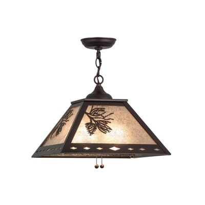 Greenbriar Oak Winter Pine 2-Light Mini Pendant