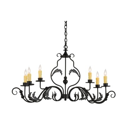 Greenbriar Oak Augusta 6-Light Candle-Style Chandelier