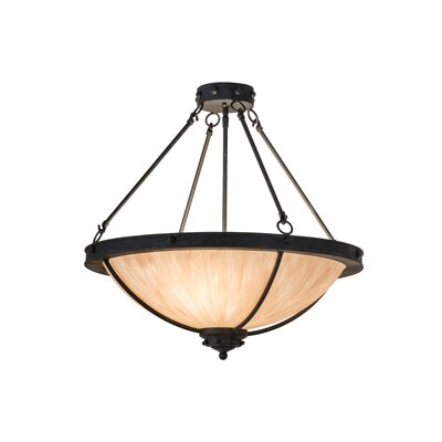 Greenbriar Oak Freya 3-Light Semi-Flush Mount