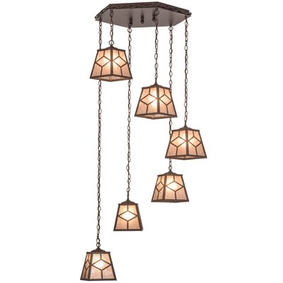 Greenbriar Oak Diamond Mission 6-Light Cascading Pendant