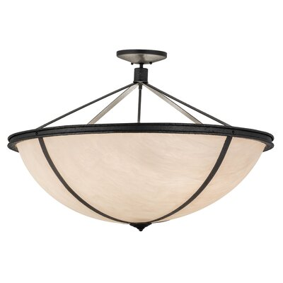 Greenbriar Oak Commerce Jackson 6-Light Inverted Pendant