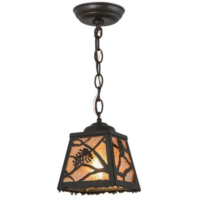Spruce Pine 1-Light Mini Pendant Finish: Timeless Bronze, Size: 11 - 70 H x 8.5 W x 8.5 D
