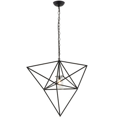 Greenbriar Oak Geometric 1-Light Mini Pendant