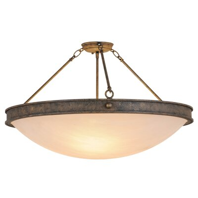 Greenbriar Oak Dionne 3-Light Semi-Flush Mount