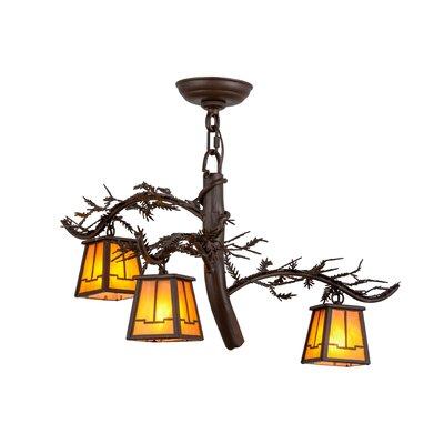 Greenbriar Oak 3-Light Shaded Chandelier
