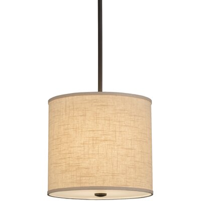 Greenbriar Oak Cilindro Beige Textrene 1-Light Pendant Size: 61 H x 12 W x 12 D