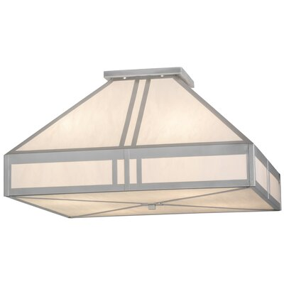 Greenbriar Oak Whitewing 4-Light Flush Mount