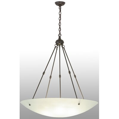 Greenbriar Oak Dia 6-Light Inverted Pendant