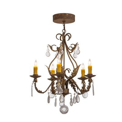 Greenbriar Oak 5-Light Candle-Style Chandelier