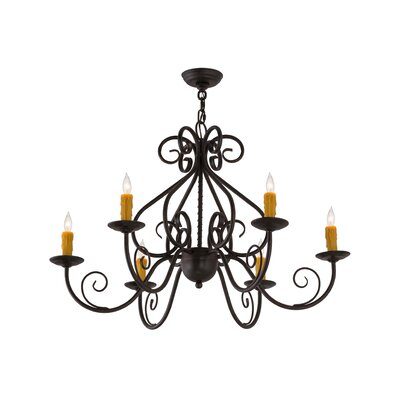 Greenbriar Oak Jenna 6-Light Candle-Style Chandelier