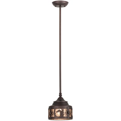 Greenbriar Oak Horseshoe 1-Light Mini Pendant