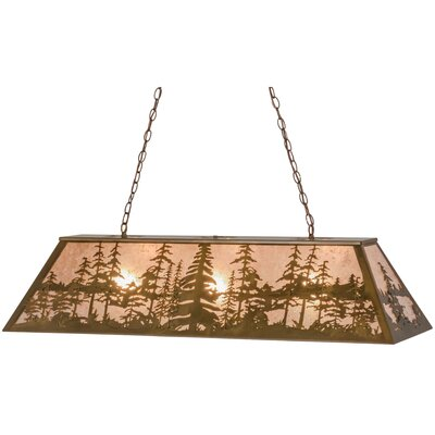Greenbriar Oak Tall Pines 3-Light Pendant