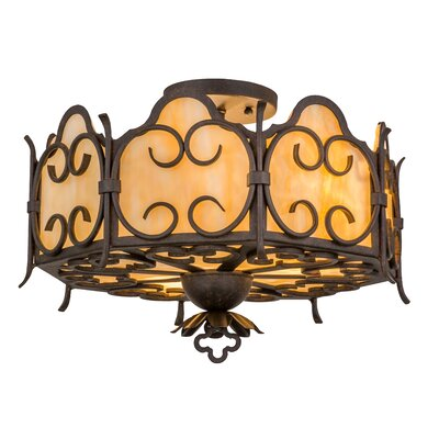 Radha 3-Light Semi Flush Mount