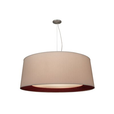Greenbriar Oak 5-Light Drum Pendant Size: 264 H x 52 W x 52 D