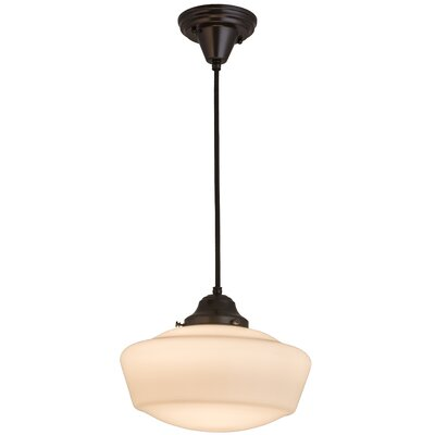 Greenbriar Oak 1-Light Schoolhouse Pendant