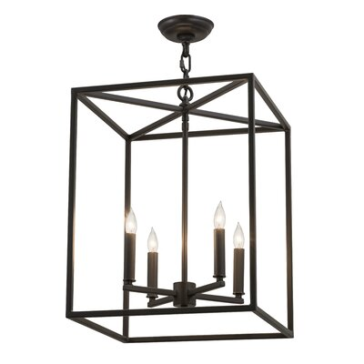 Kitzi Box 4-Light  Foyer Pendant