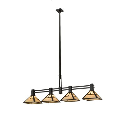 Greenbriar Oak T Mission 4-Light Island Pendant
