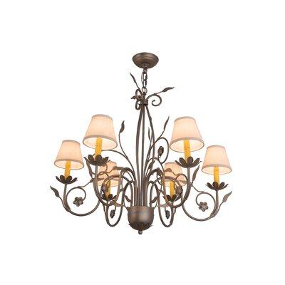 Greenbriar Oak Bordeaux 6-Light Shaded Chandelier