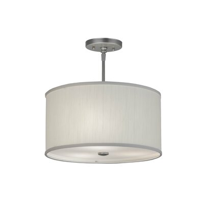 Cilindro Textrene 3-Light Drum Pendant Size: 15 H x 15 W x 15 D
