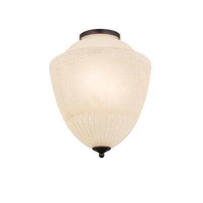 Greenbriar Oak Ovum Aquinum 2-Light Flush Mount