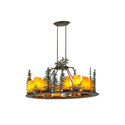 Greenbriar Oak 27-Light Candle-Style Chandelier