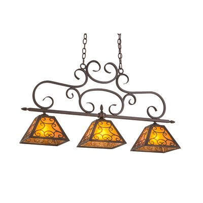 Greenbriar Oak Bandolei 3-Light Kitchen Island Pendant