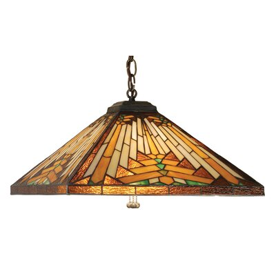 Mission Southwest Nuevo 3-Light Pool Table Light