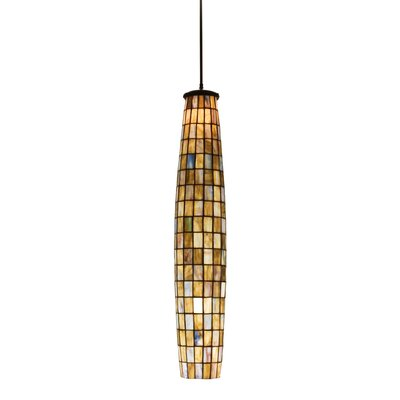 Checkers 2-Light Mini Pendant Shade Color: Tortoise Shell Beige