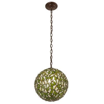 Mistletoe 1-Light Ball Globe Pendant