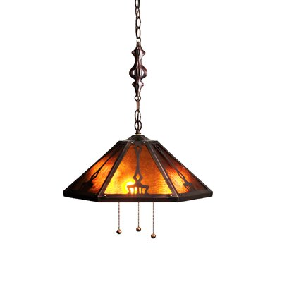 3-Light Bowl Pendant Size: 48 H x 18 W x 18 D