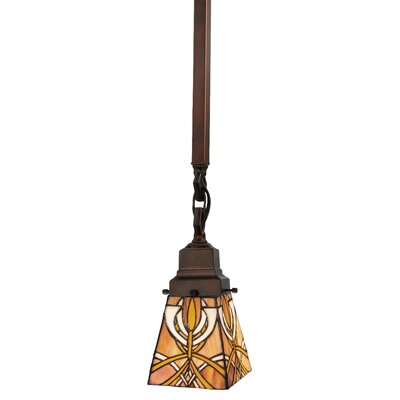 Mission Glasgow Bungalow 1-Light Mini Pendant Size: 23 H x 5 W x 5 D