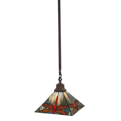 Mission 1-Light Tiffany Pendant Size: 24 H x 10 W x 10 D