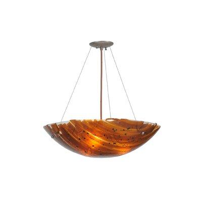 Torta Fused Glass 3-Light Inverted Pendant