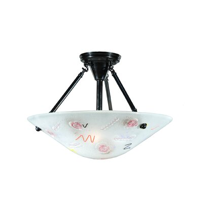 Metro Fusion Super Nova Glass 2-Light Semi-Flush Mount