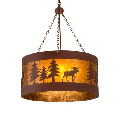 Moose on the Loose 4-Light Drum Pendant